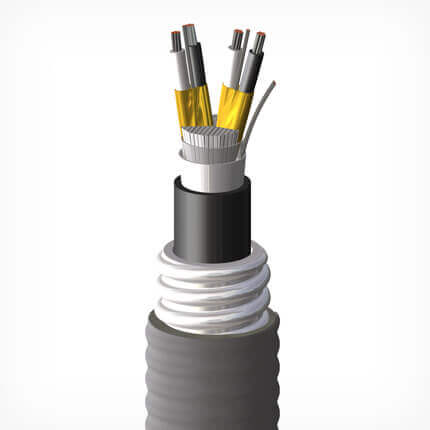 An image of Shawcor's CSA ACIC Armored Instrumentation Cable